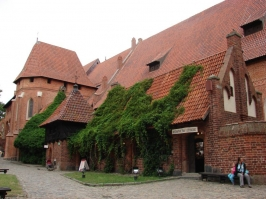 The Gothic castle of the Teutonic Knights at Malbork